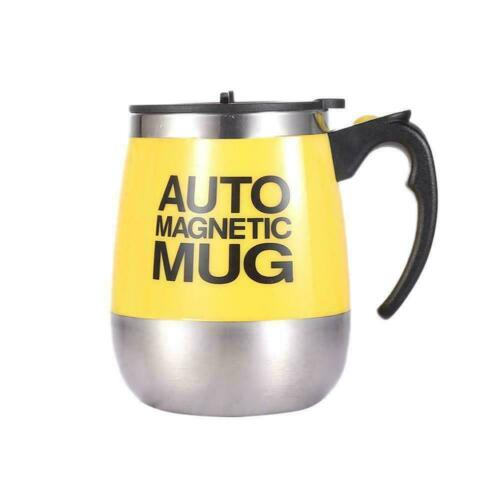 Electric Stainless Steel Auto Self Mixing Cup Magnetic NEW Stirring Mug U2O9