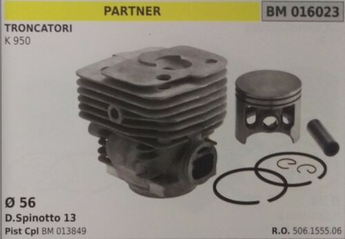 506155506 CYLINDER AND PISTON COMPLETE SAW PARTNER K 950 Ø 56