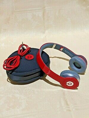 Beats By Dr Dre Solo Hd Headband Headphones Red Special Edition Ebay