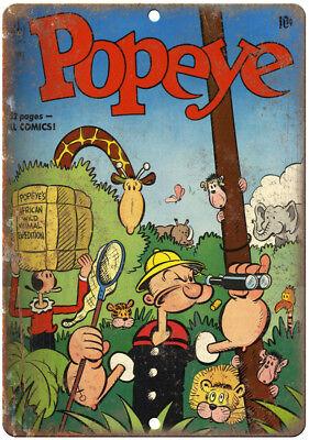 "Olive Oyl Ppoeye Vintage Comic Book Art 10/""X7/"" Reproduction Metal Sign J248 NO"