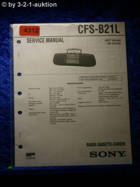 Sony Service Manual Cfs B21l Cassette Corder   4312