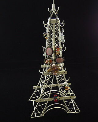 Jewelry Stand Earrings Necklace Ornament Holder, Effel Tower with Hooks