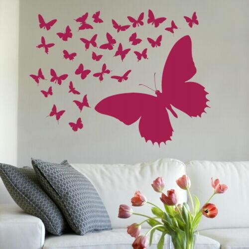 Lovely Butterfly Wall Sticker Interior Decor Butterflies Wall Art Transfer RA96
