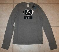 Abercrombie Boys Large Muscle Fit Varsity Ls Football T-shirt - Last One