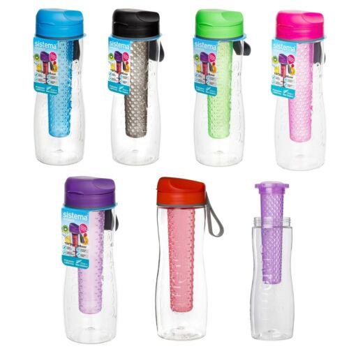 sistema Trinkflasche Tritan Active mit Infuser 800 ml Wasserflasche Sport