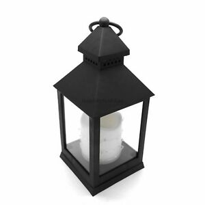 24cm-Antique-Black-LED-Traditional-Hanging-Outdoor-Indoor-Lantern