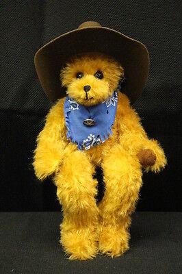"11"" Tall The Corbett Kids Brown Sitting ""western"" Bear W/scarf & Hat"