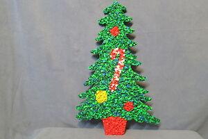 Vintage christmas wall decor melted popcorn plastic christmas tree