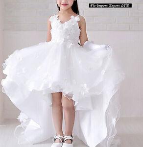 selezione migliore f933c 24c61 Dettagli su Vestito Bambina 2-15 Anni Cerimonia Comunione Girl Party  Princess Dress CDR062