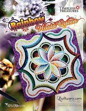 Rainbow Hosta Queen Quilt Paper Piecing Pattern by Judy Niemeyer