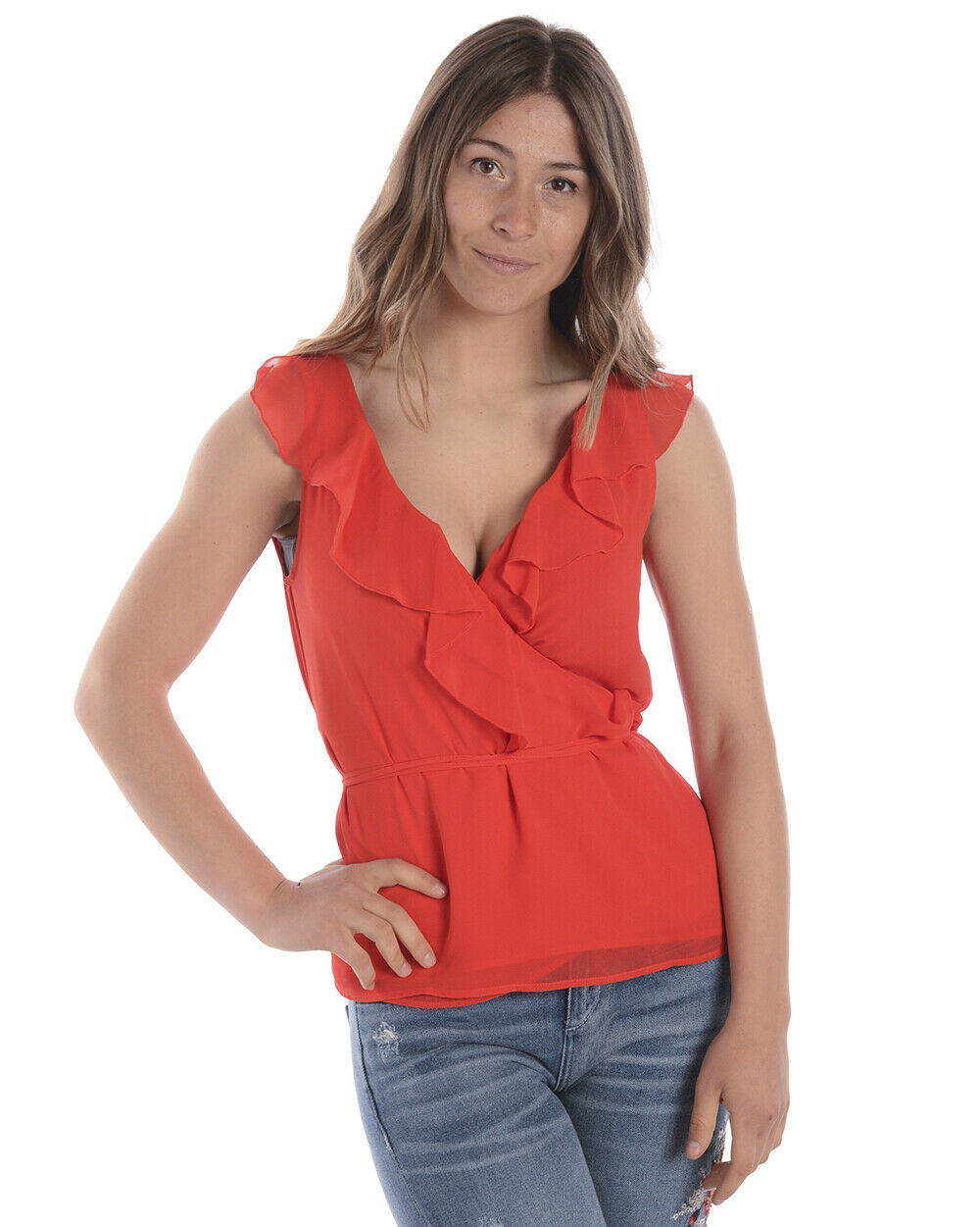 Top T shirt Liu Jo Sweatshirt MADE IN ITALY damen rot C18307T1658 81662