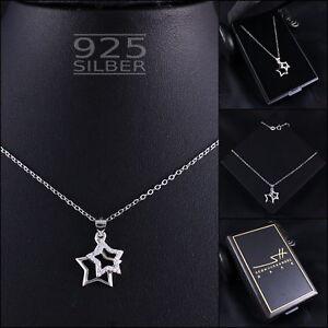 Sterne-Kette-Halskette-925-Sterling-Silber-Damen-SWAROVSKI-ELEMENTS-im-ETUI