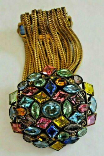 Vtg. early unsigned Hobe jeweled bracelet