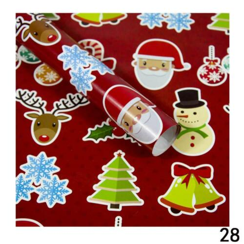 2019 Christmas Wrapping Paper Gift Present Tree Santa Wrap ative Xmas Party Roll