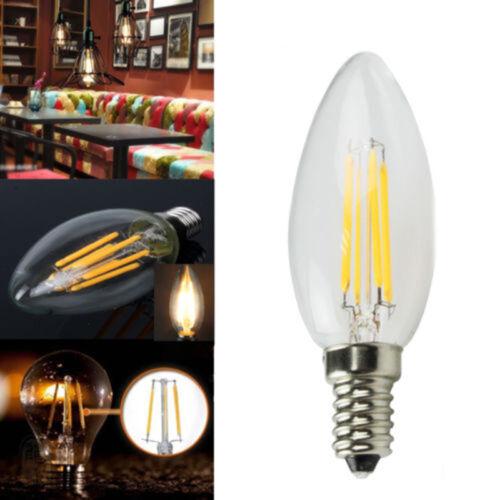 10X LED 220V RETRO EDISON FILAMENT GLÜHBIRNE VINTAGE KERZE C35 E14 4W LAMPEN @#