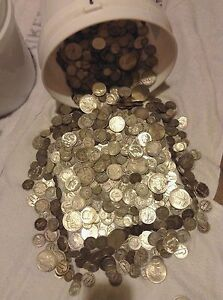 Estate Sale Lot Old Us Coins Hoard Gold Silver 90 Bullion Quarter Pound Lb Ebay