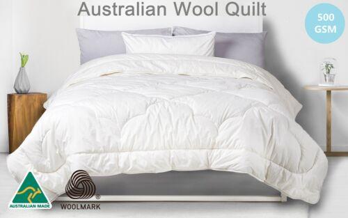 Golden Quilts Australian Wool Quilt Doona Australian Made 500GSM S D Q K SK