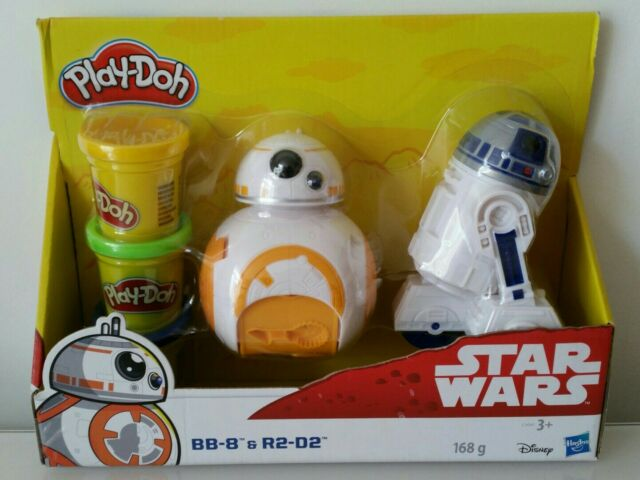 PLAY DOH STAR WARS BB-8 & R2 D2 BRAND NEW PLAYDOH TOY GIFT DISNEY HASBRO BB8