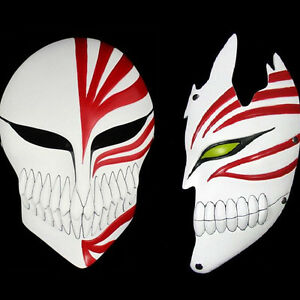 2pcs Japan Anime Bleach Ichigo Kurosaki Mask Full Hollow Prop Masquerade Cosplay Ebay