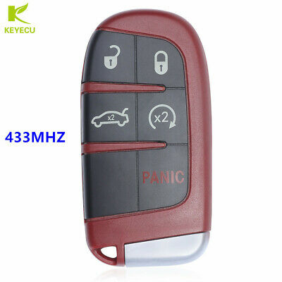 Red HH OBD Aluminium Alloy Keychain Cover for Chrysler 300 Town