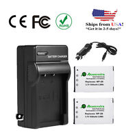 2pcs Np-20 Battery For Casio Exilim Ex-z60 Ex-z70 Ex-z75 Ex-z77 Ex-s880 +charger