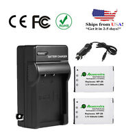 2x Np-20 Battery + Charger For Casio Exilim Ex-z60 Ex-z70 Ex-z75 Ex-z77 Ex-s880