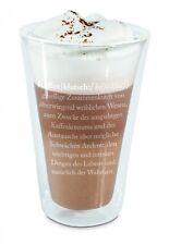 "Thermoglas Thermobecher Thermo Glas Becher Latte Macchiato Glas ""Kaffeeklatsch"""