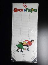 RARE Calendrier Quick et Flupke Lannoo 1987 ETAT NEUF sous cello no Tintin