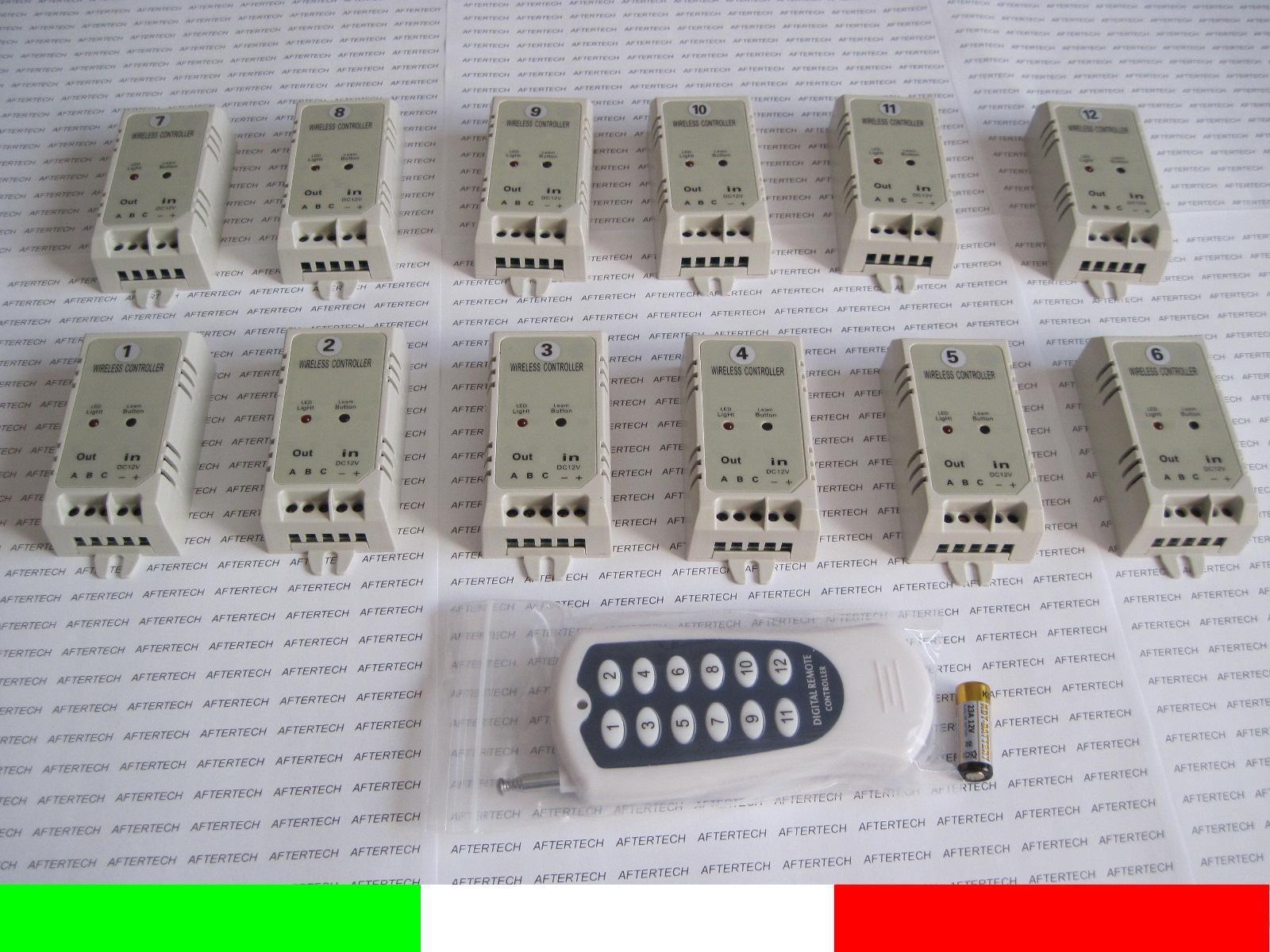 12 Schalter On Off mit Command A Entwertung Einzelner Wifi Fernsteuerung 12v