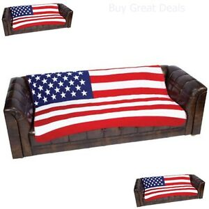 American Flag Blanket Fleece Throw Bedding Couch Cover Bed United States Print Ebay