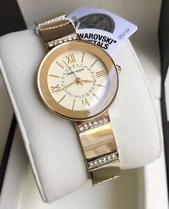 Anne Klein Watch * 3190CHGB Swarovski Gold Steel for Women COD PayPal
