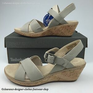 Heel Scarpe Beige Womens in Ankle £ 85 pelle Sandals Whittier Timberland Strap Rrp qwTFn4HHx