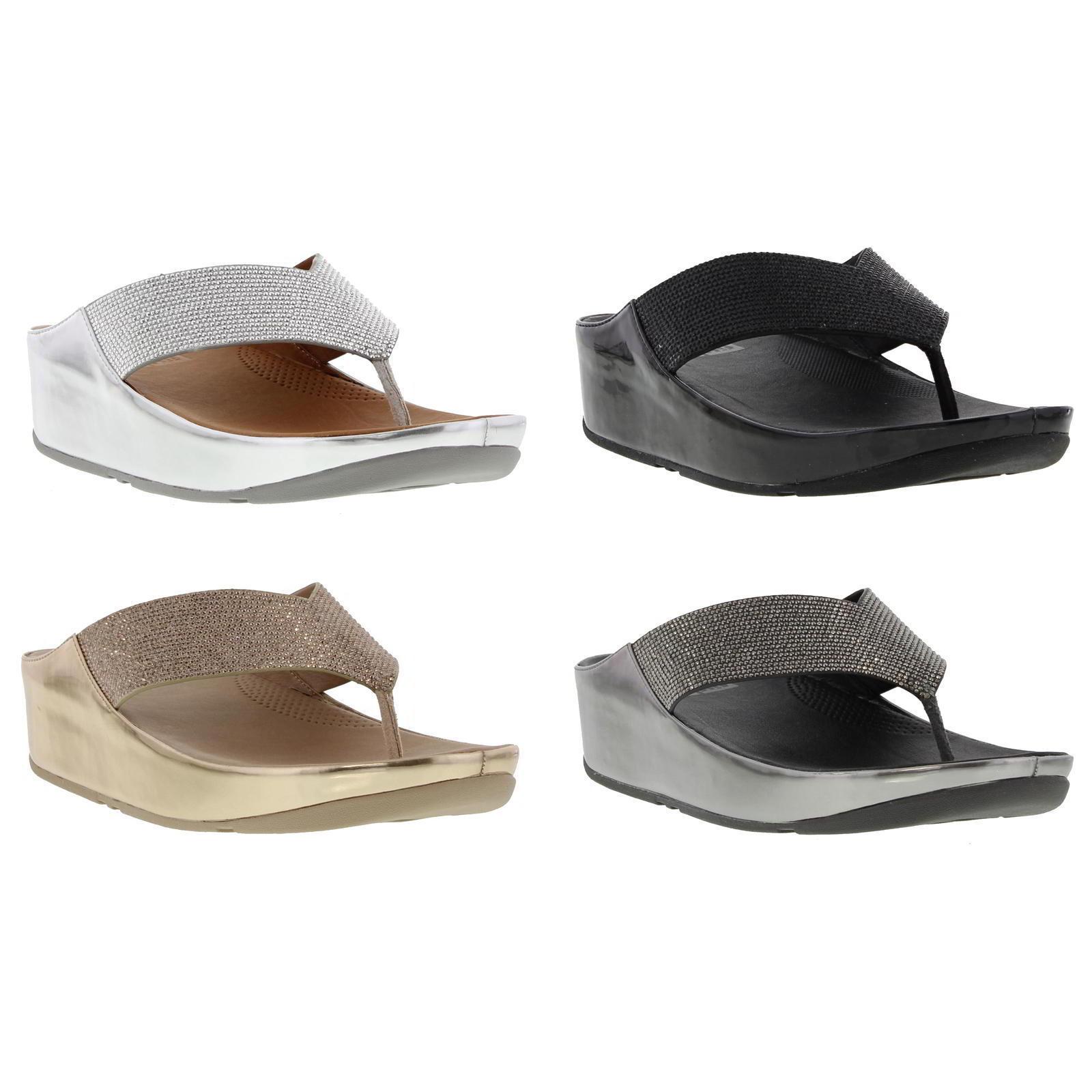 FitFlop Crystall Damenschuhe Toe Post Sandales Größe 4-8