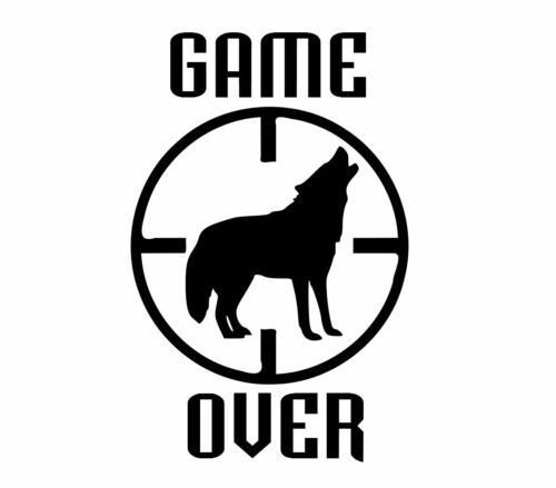 Game Over Sticker bow air rifle bb gun coyote antlers hunter Christmas gift
