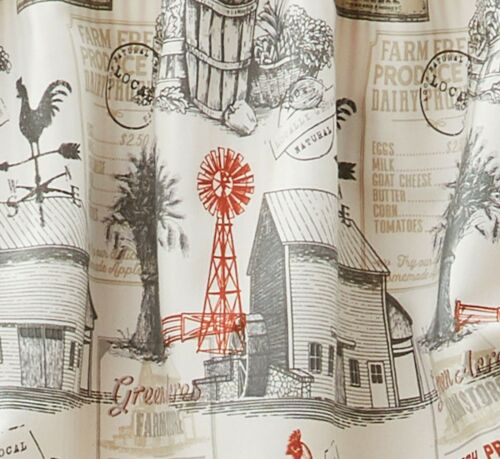 Better Homes /& Gardens Farmhouse Country Rustic Farm Window Valance Cream Red