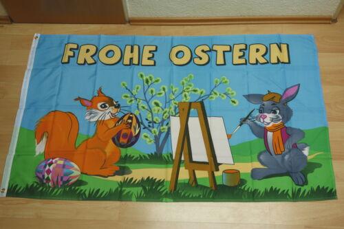 Fahnen Flagge Frohe Ostern Maler 90 x 150 cm