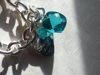 Pure Love Cushion Paraiba With Silver Tag Necklace