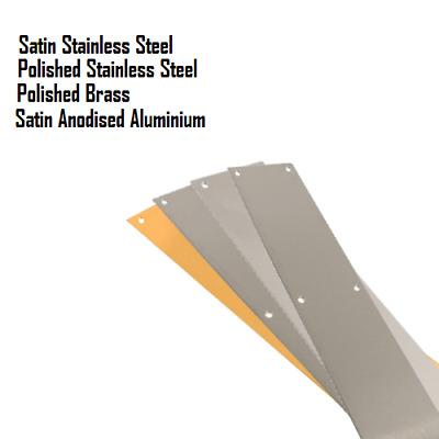 Door Protection Plate Multiple Sizes Satin Aluminium Kick Plate