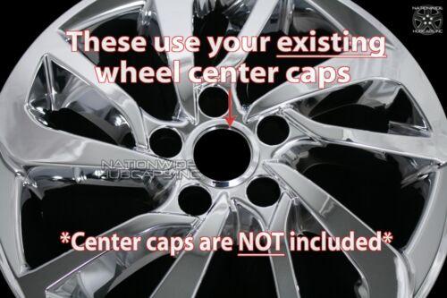 "Set of 4 fit 2016-2018 Hyundai Tucson 17/"" Chrome Wheel Skins Hub Caps Rim Covers"