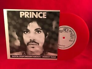 PRINCE-Gotta-Stop-Messin-039-About-1980s-RED-VINYL-single-EXCELLENT-CONDITION