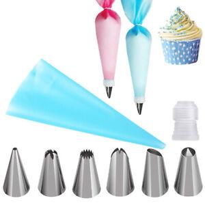 8Pcs Nozzles Tool Cake Baking Decorating Kit Set Piping tips Pastry Icing Bag