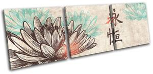 Lotus-Flower-Illustration-Religion-TREBLE-CANVAS-WALL-ART-Picture-Print