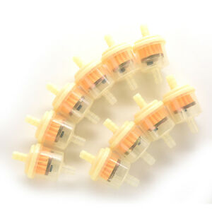 10-Pcs-Fuel-Filter-Yellow-Gasoline-Inline-for-Motorcycle-Pit-Dirt-Bike-NT