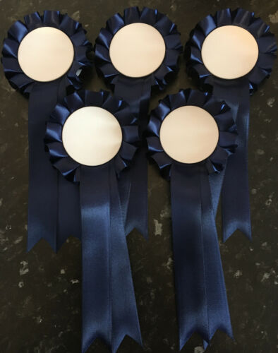 Navy *FREE 1st CLASS POSTAGE* 5 Blank Rosettes For Any Occasion