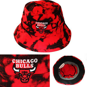 6ea3969c0ea Mitchell   Ness Chicago Bulls Bucket Hat Color Acid Wash Red Black ...