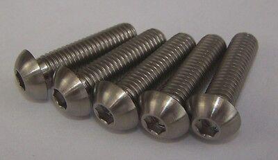 5x Titanium M8 x 25mm Dome Allen Socket Head Button Bolts Light Weight
