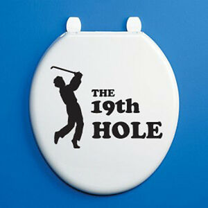 Excellent Details About Golfer 19Th Hole Silhouette Toilet Seat Vinyl Sticker Black Golf Themed Evergreenethics Interior Chair Design Evergreenethicsorg