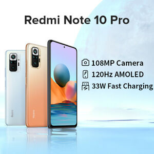 Xiaomi Redmi note 10 Pro 8+128G Smartphone Snapdragon 732G AMOLED EU Version