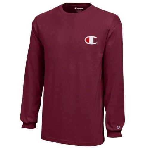 Long Sleeve T-Shirt Garnet Champion Reverse Weave Youth