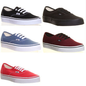 91735a77a6 Image is loading Genuine-Vans-Shoes-Authentic-Plimsolls-Mens-Skate-Sneakers-